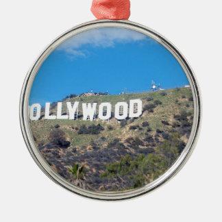 Ornement Rond Argenté Hollywood Hills
