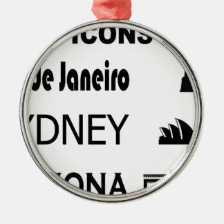 Ornement Rond Argenté Icône-Rio-Sidney