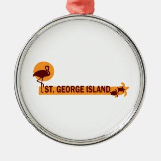 Ornement Rond Argenté Île de St George