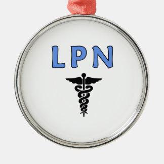 Ornement Rond Argenté Infirmières RN et LPN