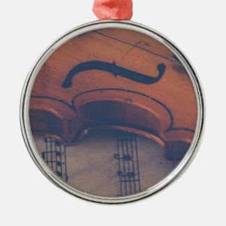 Ornement Rond Argenté Instrument de musique de classique d'instrument de