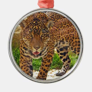 Ornement Rond Argenté Jaguar