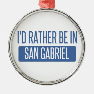 Ornement Rond Argenté Je serais plutôt dans San Gabriel