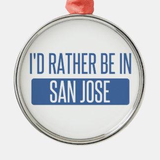 Ornement Rond Argenté Je serais plutôt dans San Jose