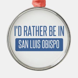 Ornement Rond Argenté Je serais plutôt dans San Luis Obispo