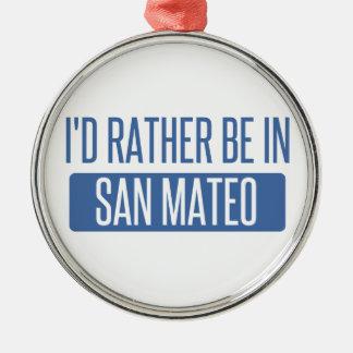 Ornement Rond Argenté Je serais plutôt dans San Mateo