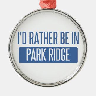 Ornement Rond Argenté Je serais plutôt en parc Ridge