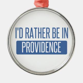 Ornement Rond Argenté Je serais plutôt en Providence