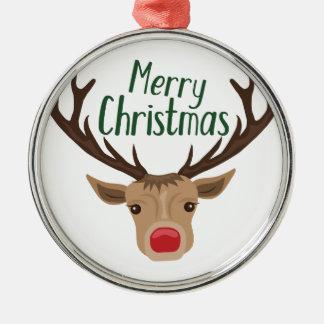 Ornement Rond Argenté Joyeux Noël