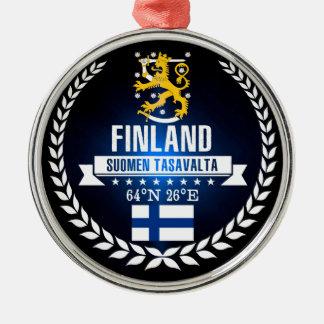 Ornement Rond Argenté La Finlande