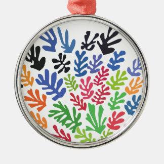 Ornement Rond Argenté La Gerbe par Matisse