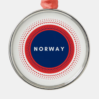 Ornement Rond Argenté La Norvège