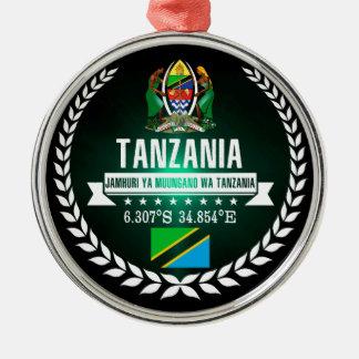 Ornement Rond Argenté La Tanzanie