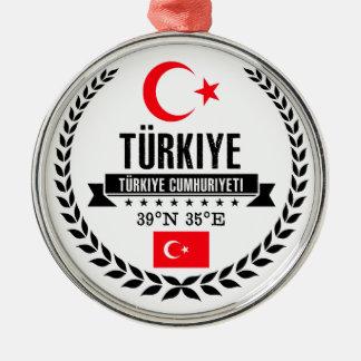 Ornement Rond Argenté La Turquie
