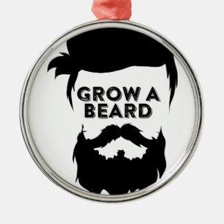 Ornement Rond Argenté Laissez-vous pousser une barbe alors que nous