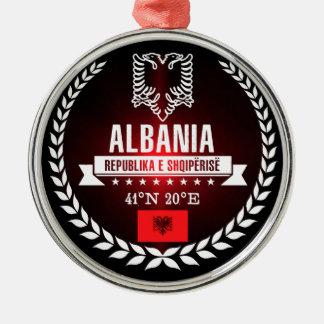 Ornement Rond Argenté L'Albanie
