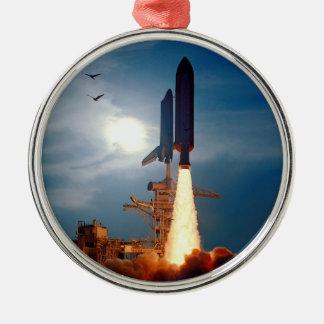 Ornement Rond Argenté Lancement STS-64 de découverte de navette spatiale