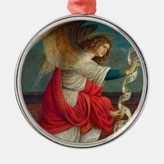 Ornement Rond Argenté L'ange Gabriel - Gaudenzio Ferrari