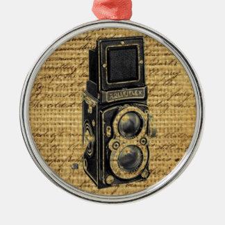 Ornement Rond Argenté le cru de steampunk scripts l'appareil-photo