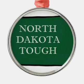 Ornement Rond Argenté Le Dakota du Nord dur