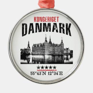 Ornement Rond Argenté Le Danemark