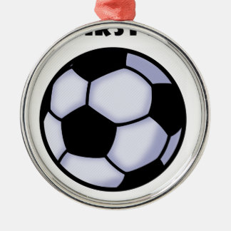 Ornement Rond Argenté le football