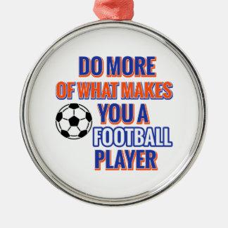 Ornement Rond Argenté Le football du FOOTBALL