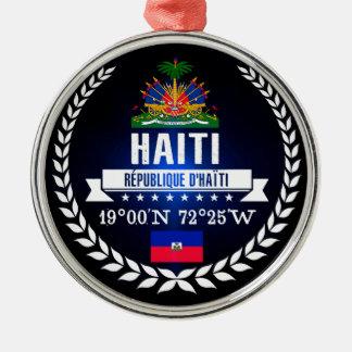 Ornement Rond Argenté Le Haïti