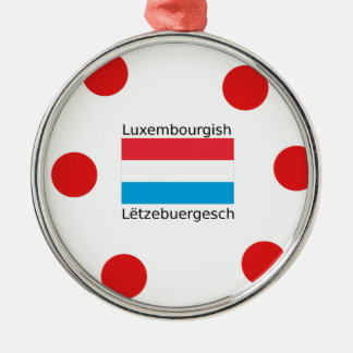 Ornement Rond Argenté Le Luxembourg diminuent et conception