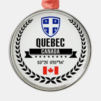 Ornement Rond Argenté Le Québec