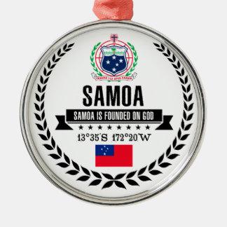 Ornement Rond Argenté Le Samoa
