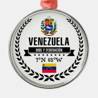 Ornement Rond Argenté Le Venezuela