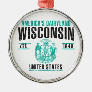 Ornement Rond Argenté Le Wisconsin