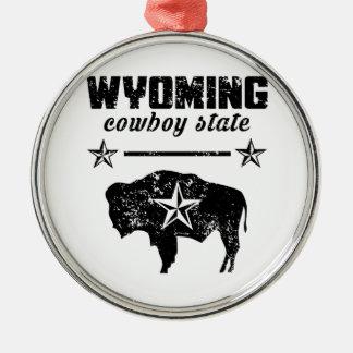 Ornement Rond Argenté Le Wyoming
