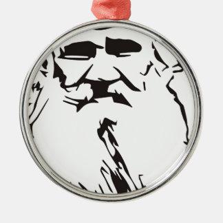 Ornement Rond Argenté Léon Tolstoï