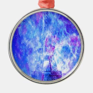 Ornement Rond Argenté Les rêves parisiens de l'amant