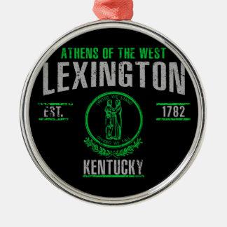 Ornement Rond Argenté Lexington
