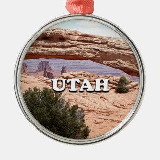 Ornement Rond Argenté L'Utah : Voûte de MESA, parc national de