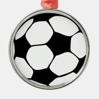 Ornement Rond Argenté maman du football