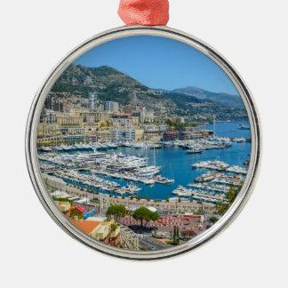 Ornement Rond Argenté Monte Carlo Monaco