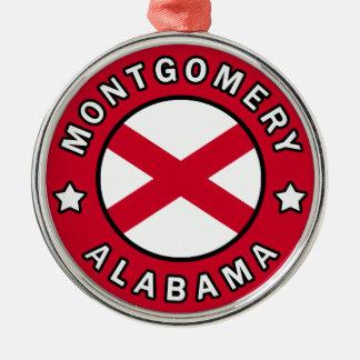 Ornement Rond Argenté Montgomery Alabama