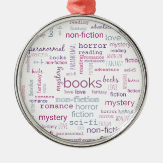 Ornement Rond Argenté Mots pour des livres