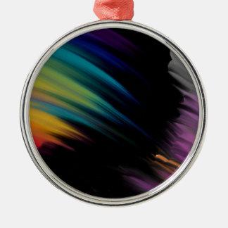 Ornement Rond Argenté mouvement de couleur