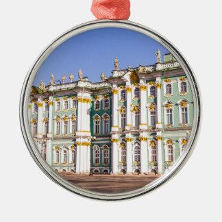 Ornement Rond Argenté Musée d'ermitage d'état St Petersburg Russie