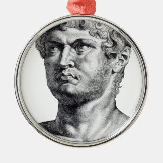 Ornement Rond Argenté Nero