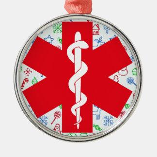 Ornement Rond Argenté No. rond de luxe 1 d'ornement d'infirmier