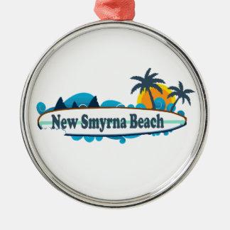 Ornement Rond Argenté Nouvelle plage de Smyrna