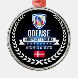 Ornement Rond Argenté Odense