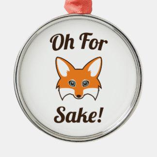 Ornement Rond Argenté Oh dans l'intéret de Fox