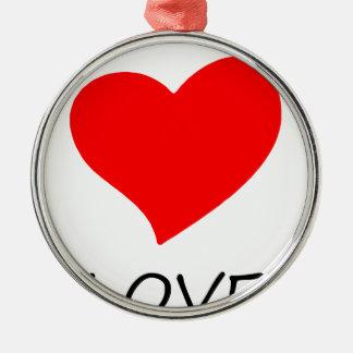 Ornement Rond Argenté paix love29